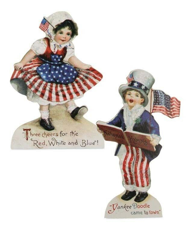 Bethany Lowe Americana Children Flag Patriotic July 4th Dummy Board - Piglet's Closet