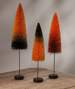 Bethany Lowe Designs Halloween Magic Ombre Trees Set of 3 #SN7398