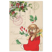 Puppy Christmas Vintage Decoupage Tissue Paper - Roycycled - Piglet's Closet