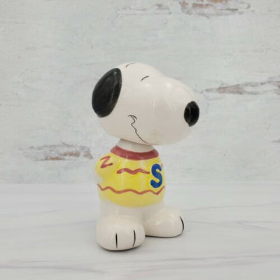 Peanuts Snoopy Ceramic Bobblehead Nodder Figurine - Jersey and Gloves - Piglet's Closet