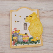 Classic Winnie The Pooh Ceramic Single Light Switch Plate Cover - Piglet's Closet