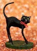 ESC Lori Mitchell Halloween Kitty Boo Black Cat Figurine - Piglet's Closet