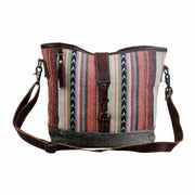 Myra Upcycled Boho Multicolored Tapestry and Canvas Tote Bag Purse - Piglet's Closet