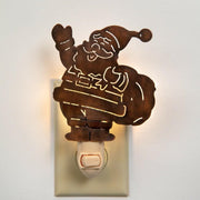 CTW Santa Claus Christmas Wall Night Light Metal Room Lighting - Piglet's Closet