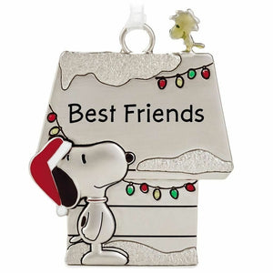 Hallmark Peanuts Snoopy & Woodstock Metal Doghouse Best Friends Ornament - Piglet's Closet