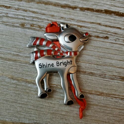 Hallmark Rudolph The Red Nosed Reindeer Shine Bright Metal Ornament - Piglet's Closet