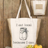 CTW Canvas  I Eat Local Market Tote Bag Colonial Tin Works Primitive