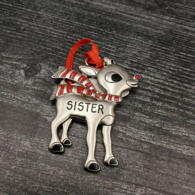 Hallmark Rudolph The Red Nosed Reindeer SISTER Christmas Ornament