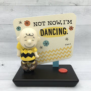 Hallmark Peanuts Charlie Brown Not Now, I'm Dancing Musical Figurine