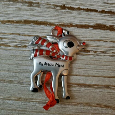 Hallmark Rudolph The Red Nosed Reindeer My Special Friend Metal Ornament - Piglet's Closet