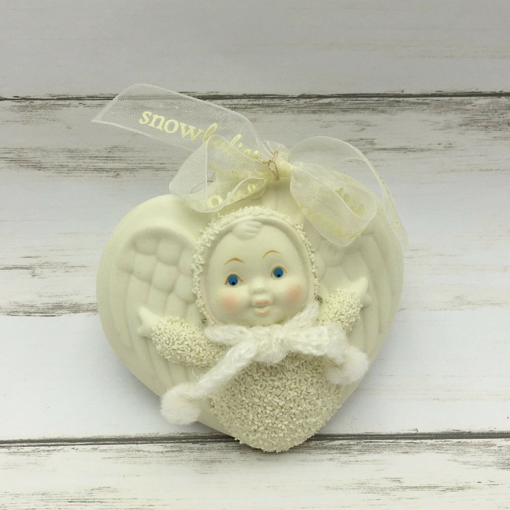 "Dept 56 Snowbabies ""Angel In My Pocket"" Ceramic Christmas Ornament - Piglet's Closet"