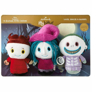 Hallmark Itty Bittys Nightmare Before Christmas Lock Shock Barrel Ltd Ed Plush - Piglet's Closet