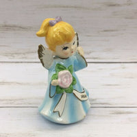Vintage Ceramic Korea January Blue Angel Figure Blonde Hair #265 - Piglet's Closet