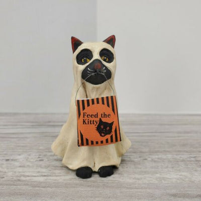 Bethany Lowe Designs Halloween Trick or Treat Ghost Cat - Piglet's Closet