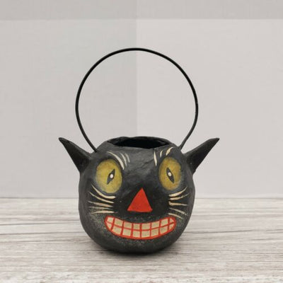 Bethany Lowe Designs Mini Halloween Bucket Ornament Black Cat - Piglet's Closet
