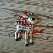 Hallmark Rudolph The Red Nosed Reindeer Thank You Metal Ornament - Piglet's Closet