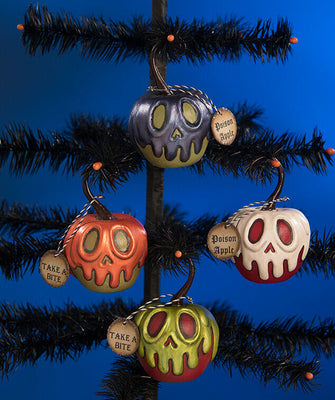Bethany Lowe Halloween Poison Apple Ornament Set - Piglet's Closet