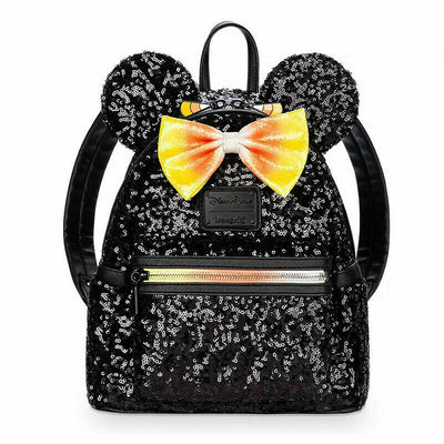 Disney Halloween Loungefly Candy Corn Bow Ears Mini Backpack