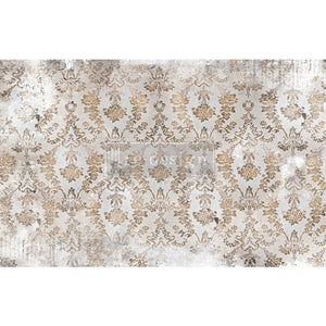 "Re-design Prima Tissue Decoupage Paper 19"" x 30"" -Washed Damask - Piglet's Closet"