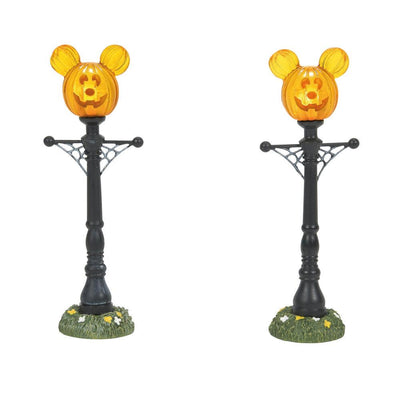 Dept 56 Disney Halloween Village - Mickey's Pumpkintown Street Lights PREORDER
