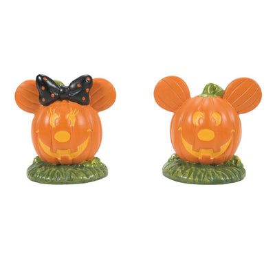 Dept 56 Disney Halloween Village - Mickey's Pumpkintown Topiaries PREORDER