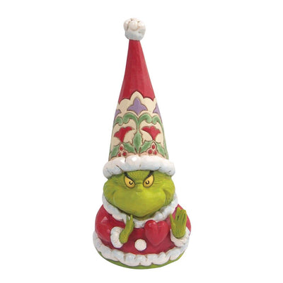 Jim Shore Grinch Gnome with Large Heart Figurine - Piglet's Closet