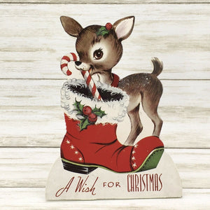 Bethany Lowe Designs Retro Christmas Friends Reindeer Dummy Board