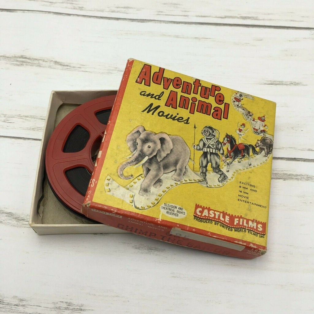 Vintage Adventure And Animal Movies 8mm Castle Films 625 Chimp the Sailor