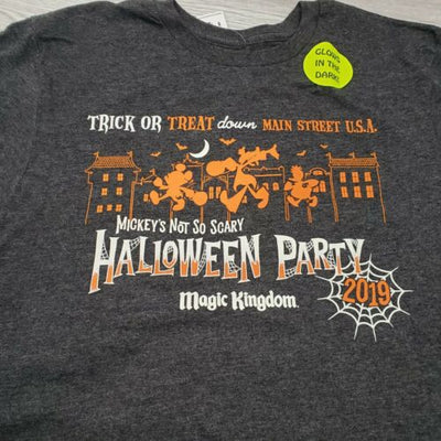 2019 Disney Mickey's Not So Scary Halloween Party Glow in the Dark S T-Shirt - Piglet's Closet