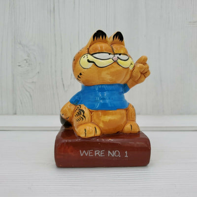 Vintage Enesco Garfield the Cat We're No. 1 Ceramic 4