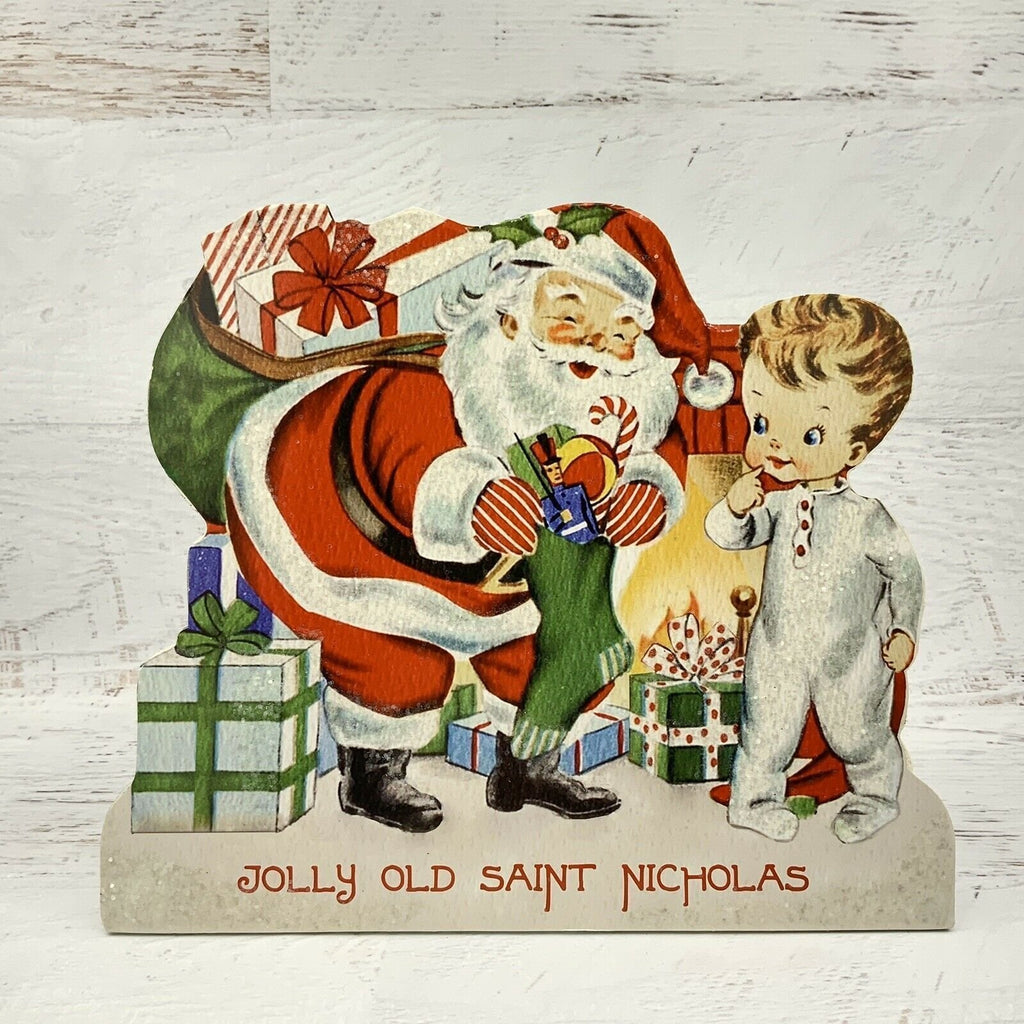 Bethany Lowe Retro Christmas Friends Santa Jolly Olde Saint Nicholas Dummy Board - Piglet's Closet