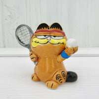 "Enesco Garfield the Cat 2.5"" Ceramic Figurine Tennis Player - Piglet's Closet"