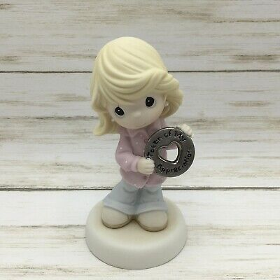 2010 Precious Moments Figurine Girl Token Of My Appreciation #104024 - Piglet's Closet