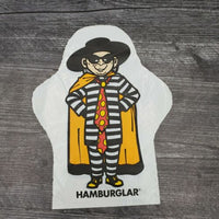 1979 McDonald's Hamburglar Vinyl Bag Hand Puppet Advertising - Piglet's Closet