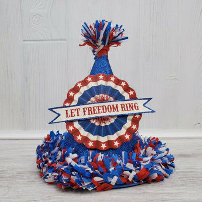 Bethany Lowe Designs Retro Americana Patriotic Blue Party Hat Decor - Piglet's Closet