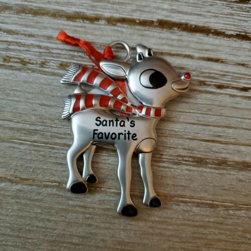Hallmark Rudolph The Red Nosed Reindeer Santa's Favorite Metal Ornament - Piglet's Closet