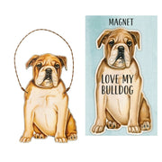 Primitives by Kathy Dog Magnet and Ornament Set - Bulldog - Piglet's Closet