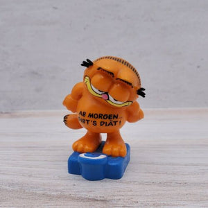 Vintage Bully Garfield the Cat Diet Starts Tomorrow West Germany PVC Figure Toy - Piglet's Closet