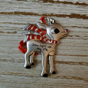 Hallmark Rudolph The Red Nosed Reindeer You Light Up My Life Metal Ornament - Piglet's Closet