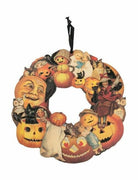 Primitives By Kathy Vintage Inspired Halloween Pumpkins Wreath Hanging Decor - Piglet's Closet