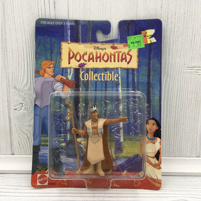 1995 Mattel Disney Pocahontas Chief Powhatan PCV Action Figure Toy