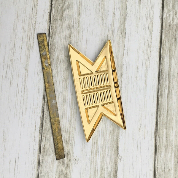 1992 Franklin Mint Star Trek Collection Commander Pin Badge .925 Sterling - Piglet's Closet