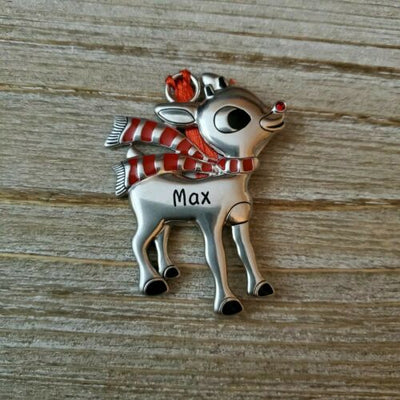 Hallmark Rudolph The Red Nosed Reindeer MAX Name Metal Ornament - Piglet's Closet