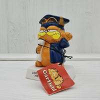 "Vintage Enesco Garfield the Cat 4"" Ceramic Figurine Look Out World Here I Come - Piglet's Closet"