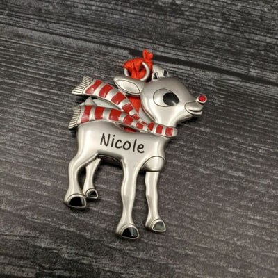 Hallmark Rudolph The Red Nosed Reindeer NICOLE Christmas Ornament - Piglet's Closet