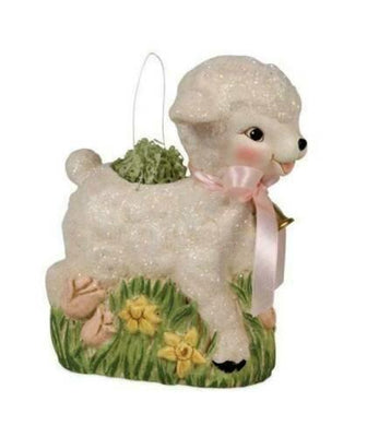 Bethany Lowe Designs Retro Lamb Bucket Easter Decor