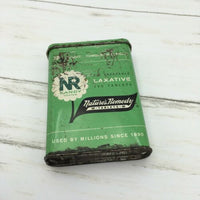 Vintage NR Nature's Remedy Laxative tablets Candy Coated Tin Advertising - Piglet's Closet
