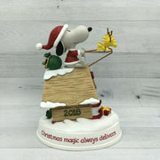 2018 Hallmark Peanuts Santa Snoopy Christmas Magic Always Delivers Figurine - Piglet's Closet
