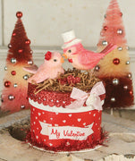 Bethany Lowe Valentine's Day Love Birds on Box - Piglet's Closet