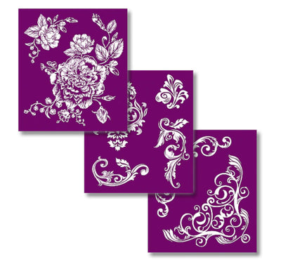 Floral Silk Screen Stencil Set - Belles and Whistles by Dixie Belle - Piglet's Closet